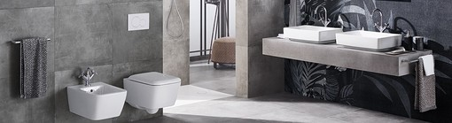 Bathroom with Geberit Sigma01 flush plate