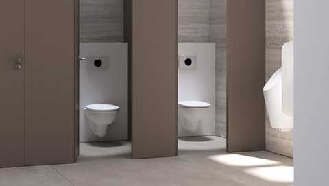 Geberit in semi-public restrooms