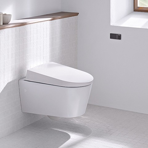 Geberit barrier-free toilet with remote flush
