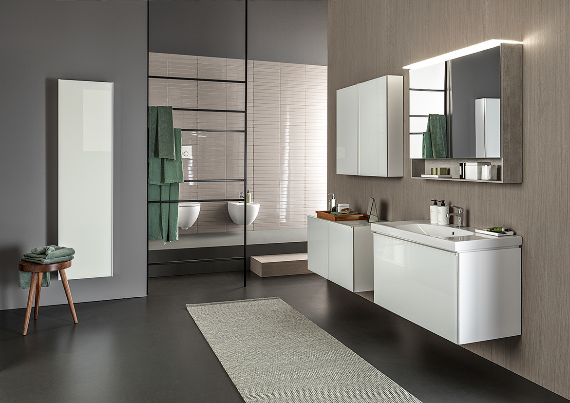 Hotel Bathroom With Geberit AquaClean Sela Shower Toilet And Monolith
