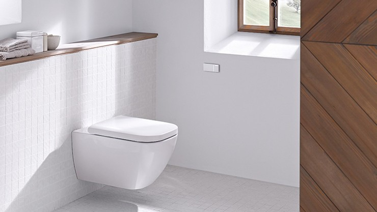 Dual flush actuator - Geberit pre-wall toilet system with Type 70 remote flush button