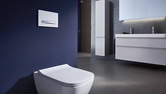 Geberit Sigma10 touchless hands-free actuator flush plate