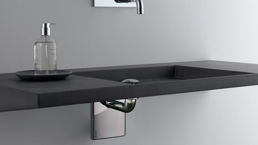 Geberit in-wall lavatory sink system with ADA wall mounted sink