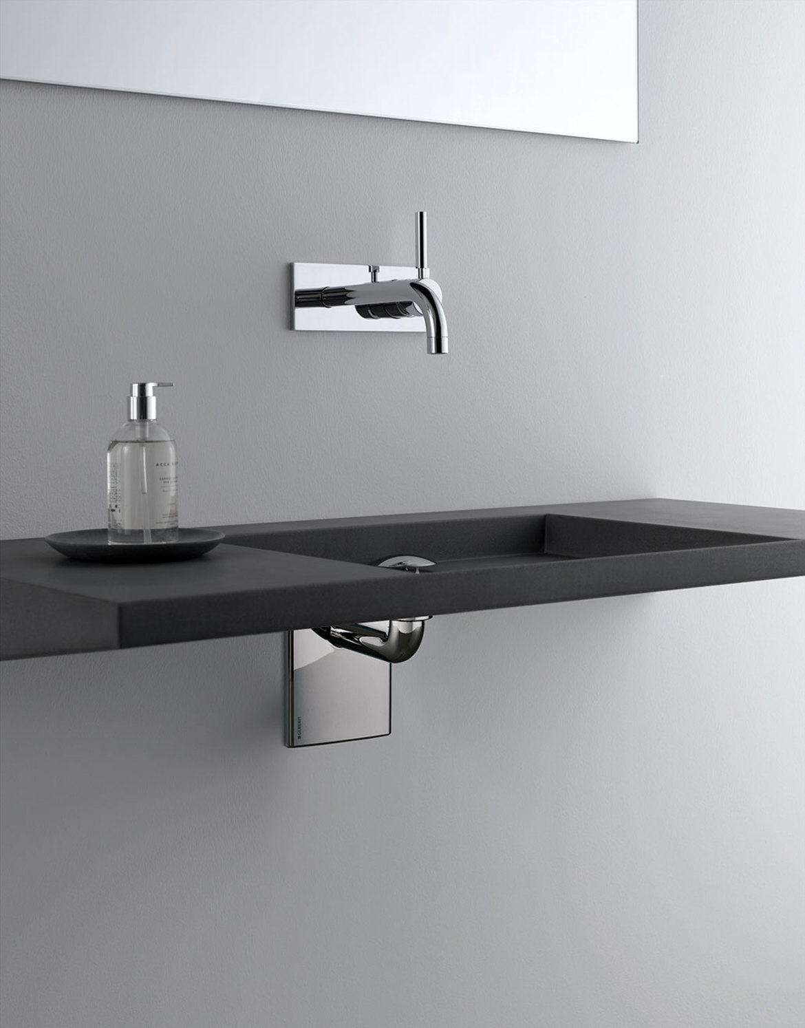 In-wall system for wall-hung lavatory sink | Geberit North America