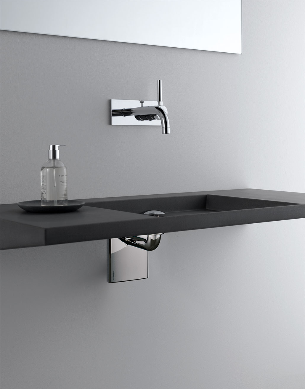 ... Geberit In Wall Lavatory Sink System With ADA Wall Mounted Sink