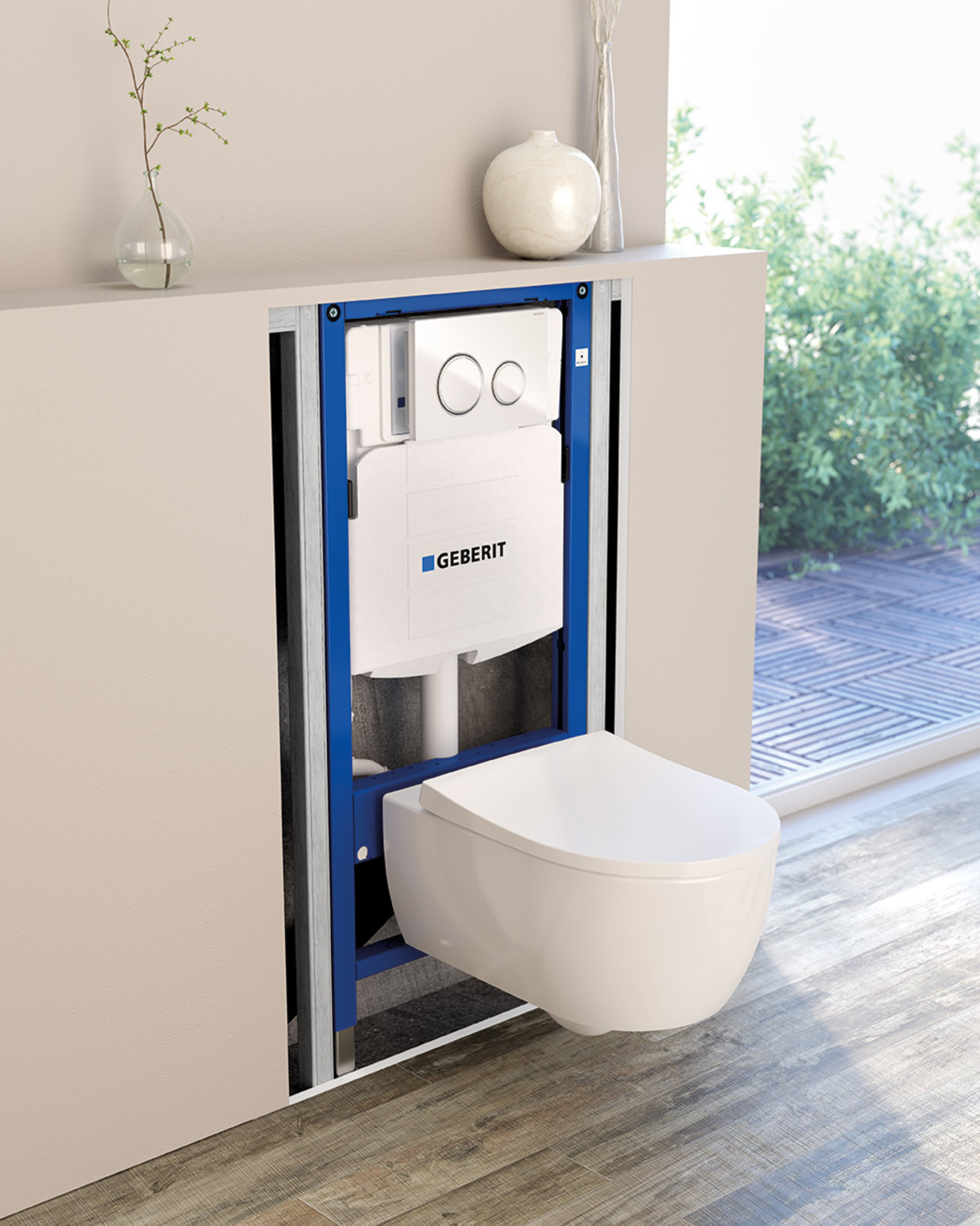 In wall systems for bathroom fixtures geberit north america for Geberit products