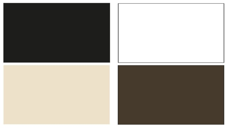 Geberit Monolith color selections - black, white, sand, and umber