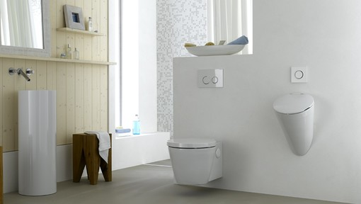 Geberit home urinal system for wall urinal in a private bathroom