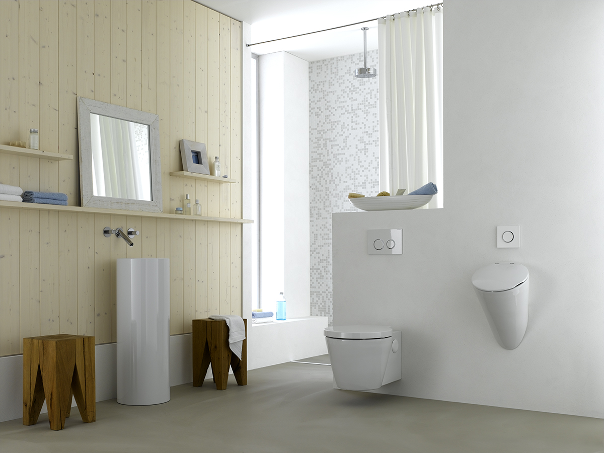 ... Geberit Home Urinal System For Wall Urinal In A Private Bathroom