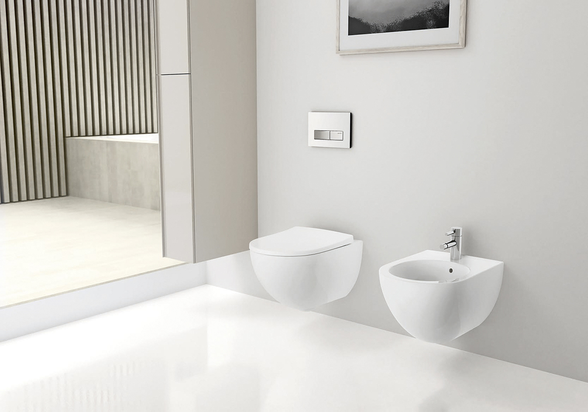 Geberit in wall systems for wall hung bidet toilets for Geberit toilet system