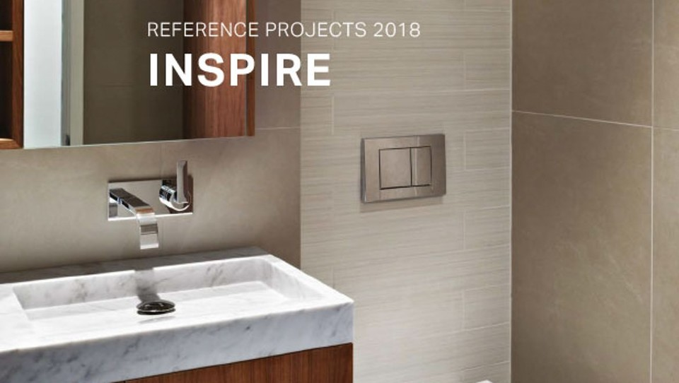 Geberit Inspire magazine for designers and builders