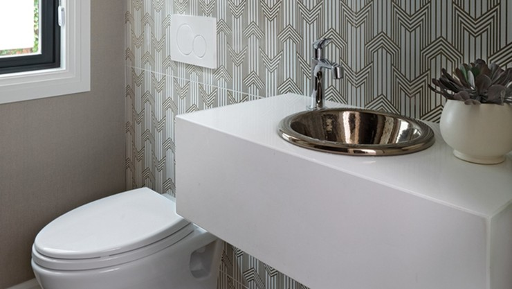 Bathroom remodeled by Carrie Long of Carrie Long Interiors (CLI), Birmingham, MI