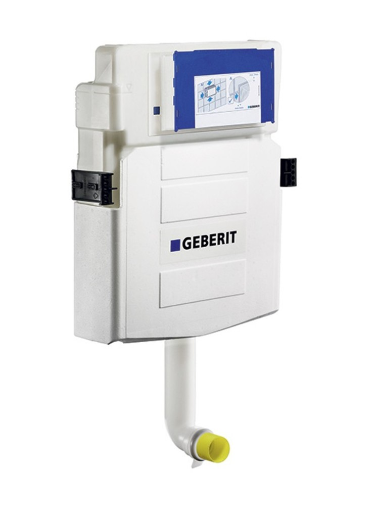In wall tank system for floor mounted toilet geberit for Geberit installation system