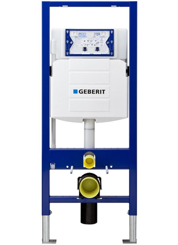 In wall system for wall hung toilets in 2x6 walls for Geberit installation system